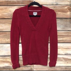 Converse pullover red sweater v-neck knit